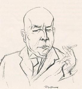 Oswald Spengler gezeichnet von Rudolf Großmann 1922